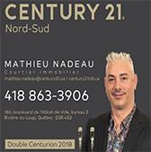 Mathieu Nadeau Century 21 Nord Sud